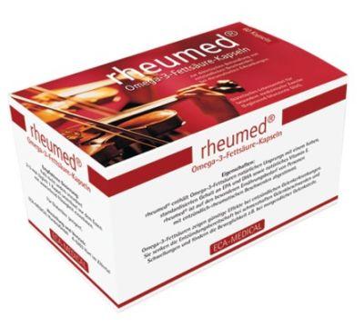 rheumed Omega-3-Fettsäure-Kapseln zur Behandlung von entzündlichen Beschwerden bei rheumatischen Erkrankungen.