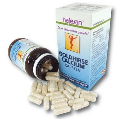Hafesan Goldhirse Calcium Kapseln